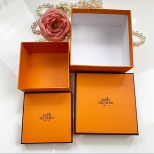 Set of 2 hermes empty boxes authentic
